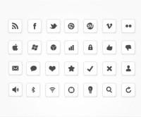 Black & White Social Media Icon Set