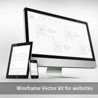 Wireframe website Vector Kit