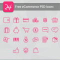 Free eCommerce PSD Icons