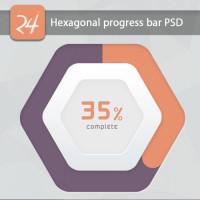 Hexagonal progress bar PSD