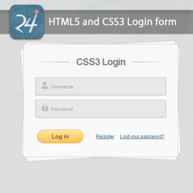 HTML5 and CSS3 Login form