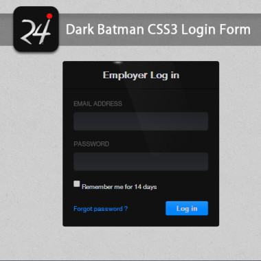Dark Batman CSS3 Login Form