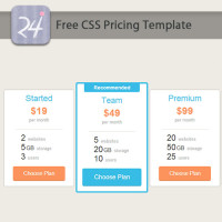 Free CSS Pricing Template