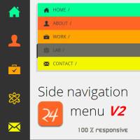 HTML Responsive Side Navigation menu
