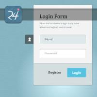 CSS3 Login Form Template