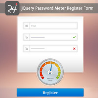 jQuery Password Meter Register Form